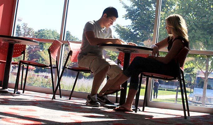 International students studying in Schwitzer