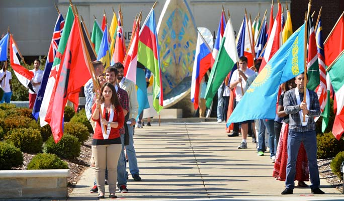 UIndy's Flag Ceremony: Celebrating UIndy's diversity