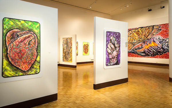 The Art Gallery in the Christel DeHaan Fine Arts Center hosts several exhibitions each year.