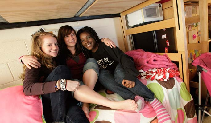 Live on campus. Make friendships that last a lifetime.