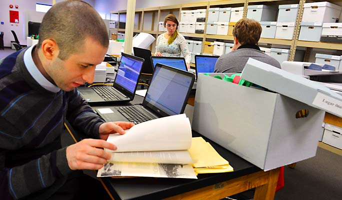 Interns work to digitize Mayoral Archives through partnership with HistoryIT