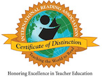 UIndy's Elementary Education program was honored for consistently preparing well-qualified reading teachers.